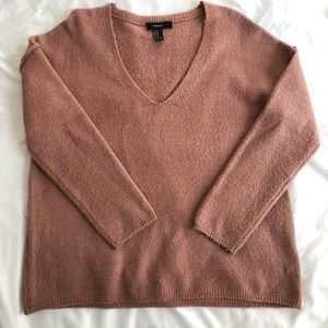 Dusty Pink Forever 21 Oversized Sweater